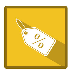 Symbol bid tag icon vector