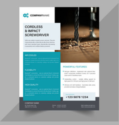 technical data flyer template a4 flyers template vector image