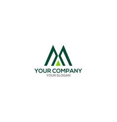 Triangle ma logo design vector