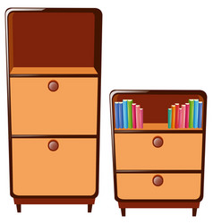 Two cabinets with drawers vector