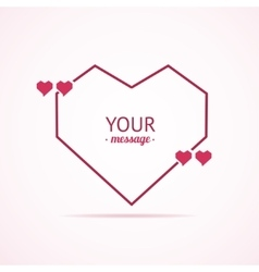 Valentine Card Quote Blank vector