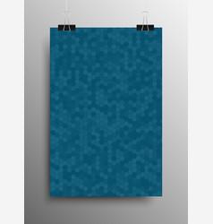 Vertical poster tile honey comb blue background vector