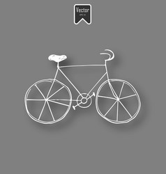 white chalk bicycle icon on black board background vector image