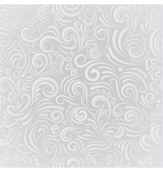 White floral seamless background vector image