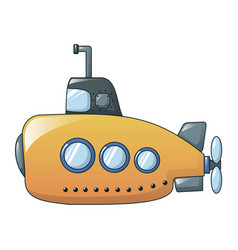 yellow submarine icon cartoon style vector image
