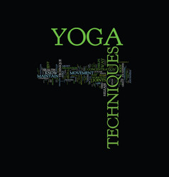 Yoga for beginners text background word cloud vector