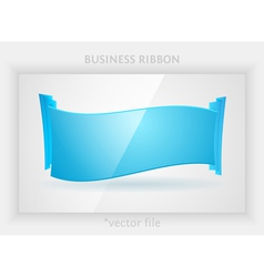 Business ribbon vector image