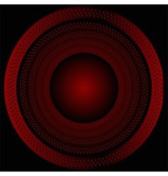 Circular brushed metal texture with dots re vector image vector image