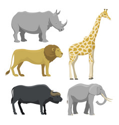 Cute cartoon safari animals vector
