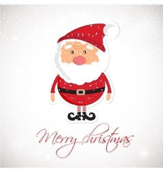 Cute Santa Claus on white christmas background vector image