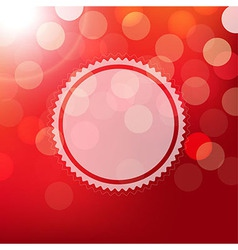 Red Background With Bokeh And Sphere vector image