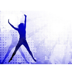 Silhouettes of a Jumping Girl vector image vector image