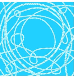 Tangled rope background vector image vector image