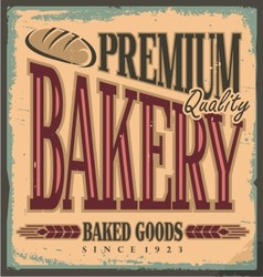 Vintage bakery sign vector image vector image