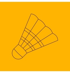 Badminton shuttlecock line icon vector image vector image