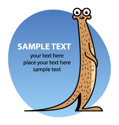 Cartoon meerkat vector image vector image