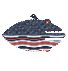 crocodile print vector image vector image