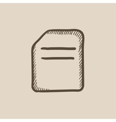 Document sketch icon vector image vector image