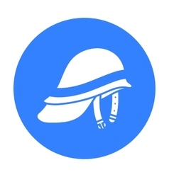 Firefighter Helmet icon black Single silhouette vector image