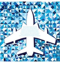 Plane space for text vector image vector image