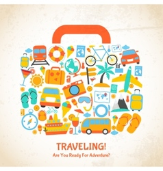 Travel suitcase concept vector image vector image