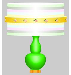 Classic desk lamp vector image vector image