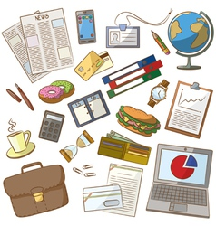 Cute doodle on the business theme vector image