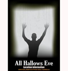 Halloween Window vector image