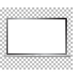 laptop computer mockup isolated on transparent vector image