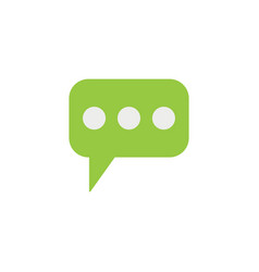 message and speech bubbles flat icon modern sign vector image vector image