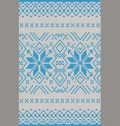 seamless knitting pattern christmas sweater design vector image
