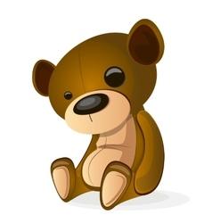 Basic brown teddy vector image