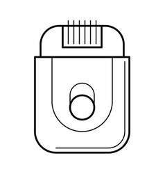 Electric razor for simple shaving vector