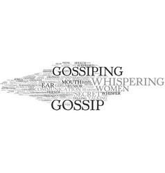 Gossip word cloud concept vector