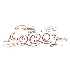 2020 hand-drawn design vector image