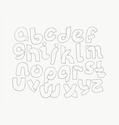 2d hand drawn alphabet letters from a to z in vector