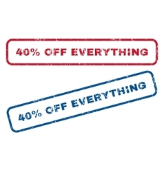 40 percent off everything rubber stamps vector