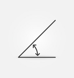45 degrees angle linear concept icon or vector