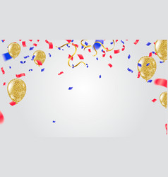 abstract background and party balloons vector image