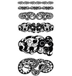 abstract tribal tattoo patterns vector image vector image