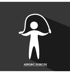 aerobics exercise vector image
