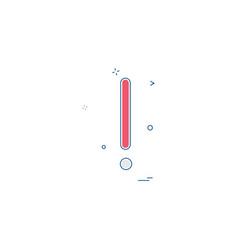 alert icon design vector image