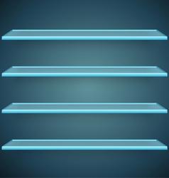 Aqua glass shelves vector