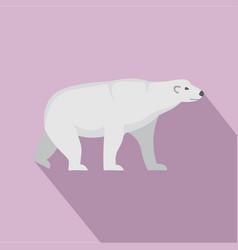 arctic bear icon flat style vector image
