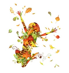 Autumn woman vector image