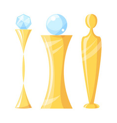 Award and trophy with crystal vector