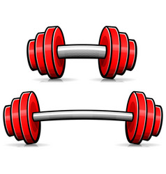 barbell isolated cartoon design vector image