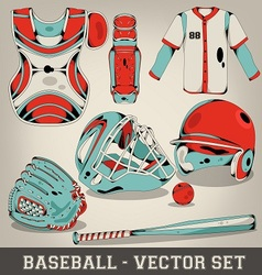 Baseball Set vector