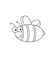 bee - simple icon vector image