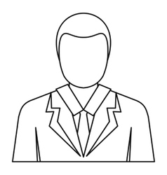 Businessman avatar icon outline style vector image